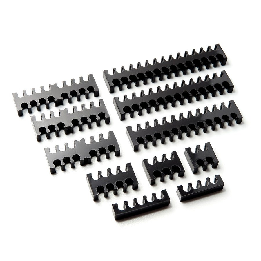 24 PCS White Cable Combs 24-pin*4 8-Pin*12 6-Pin*8 PC Cable Management Plastic