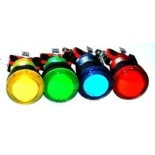 Illuminated Bulgin Style Momentary Vandal Switch (23mm)