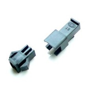 modDIY Male/Female 2-Pin Fan Molex Connector Pair (Black) with Pins