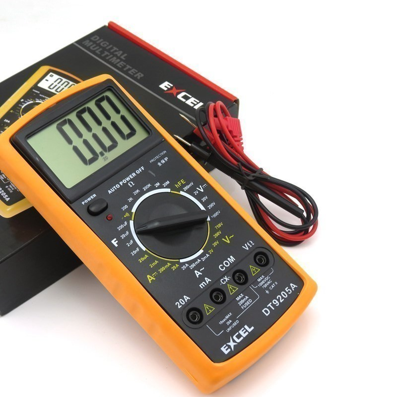 Digital Ohm Meter : Lcd screen digital multimeter volt ohm meter ammeter