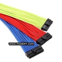 Ultra Soft RGB Cotton Single Sleeved Power Extension Cable 24 Pin Main