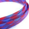 Deluxe High Density Weave Blue/Red Cable Sleeve (8mm)