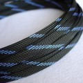Deluxe High Density Weave Black/Blue Cable Sleeve (10mm)