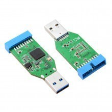 USB 3.0 Type A to 20 Pin Header 5Gbps Dual Channel Split Hub Adapter