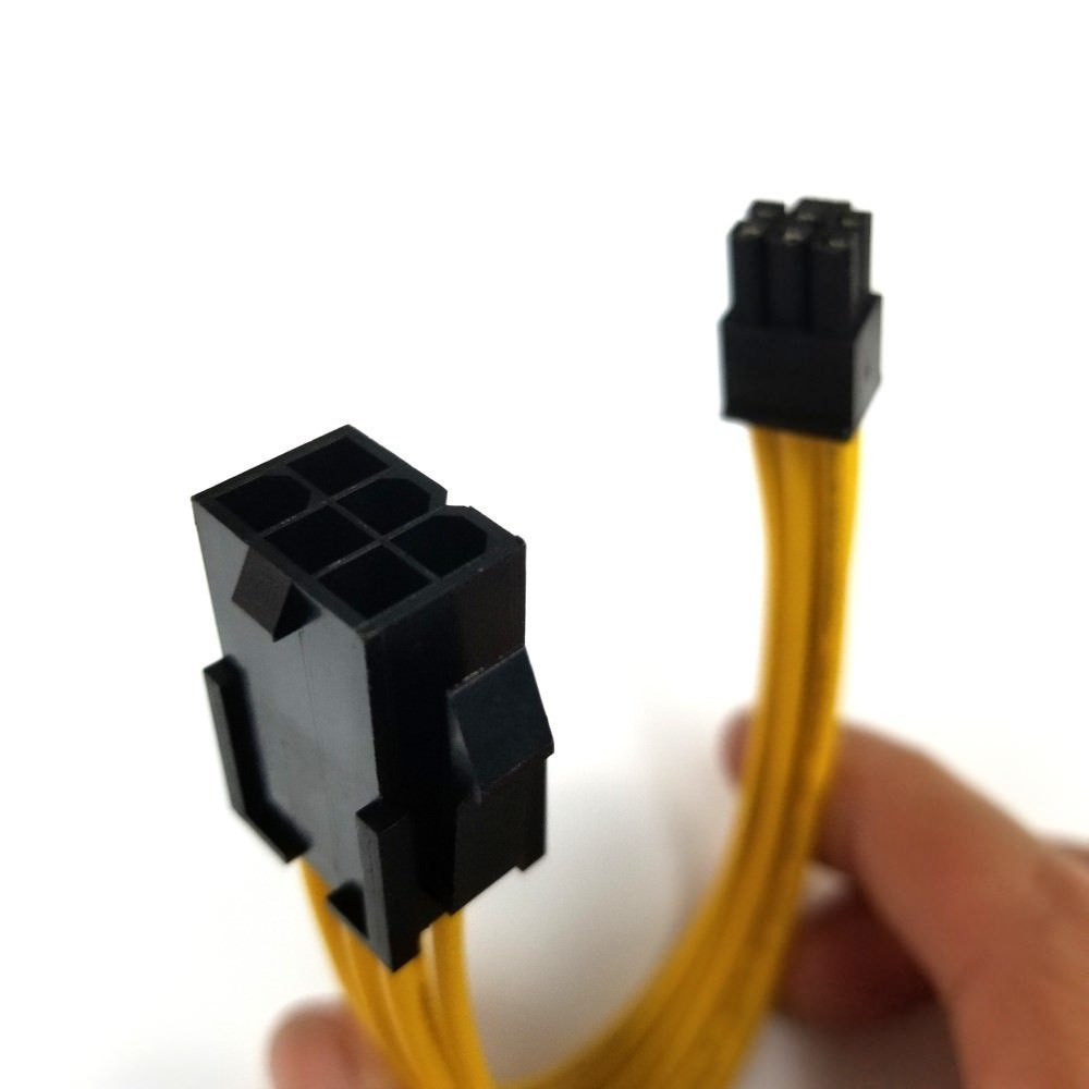 Standard 6 Pin PCIE to Apple Mac Mini 6 Pin PCIE Power Adapter Cable