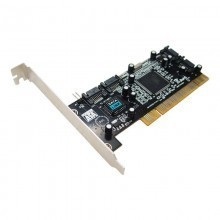 SATA 4x Internal Port Controller Card w/ SoftRAID Support Low Profile