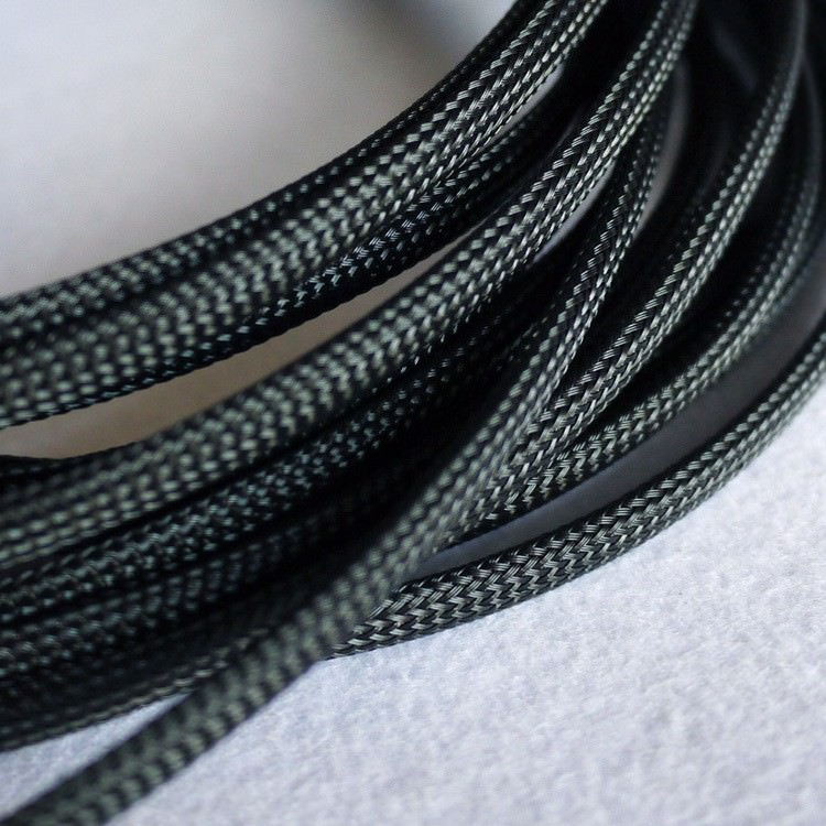 Deluxe High Density Weave Black Cable Sleeve 6mm
