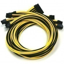 Seasonic Platinum Premium Modular Cables (Black and Yellow)