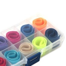 10 Compartment Transparent Plastic Parts Box with Cable Ties