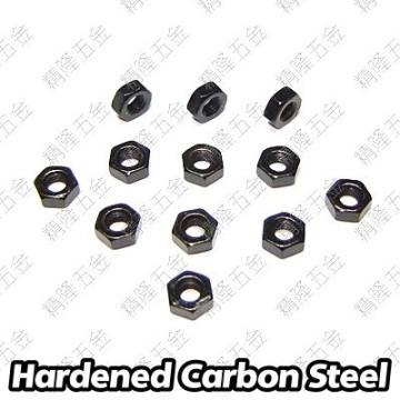 M3 Hex Lock Nut - Black Carbon Steel