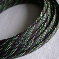 Deluxe High Density Weave Mixed Color Cable Sleeve (12mm)