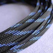Deluxe High Density Weave Black/Blue Cable Sleeve (6mm)