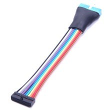 USB 3.0 20-Pin Internal Header Ribbon Cable (Low Profile Connector)