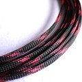 Deluxe High Density Weave Black/Pink Cable Sleeve (6mm)