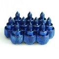 M3.5 Easy Grip Anodized Aluminum Thumbscrew - Blue (4 Pack)