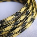 Deluxe High Density Weave Black/Yellow Cable Sleeve (6mm)