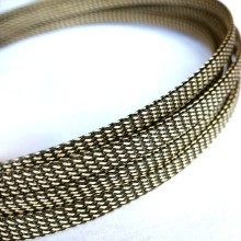 Deluxe High Density Weave Black/Gold Cable Sleeve (8mm)
