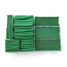 Premium Multi-Size Green Heat Shrinkable Tube Box Set (385 Pieces)