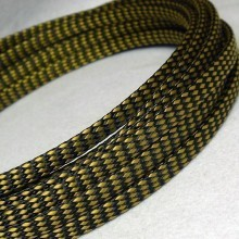 Deluxe PET PP Cotton Braided Sleeving (Yellow 4mm)