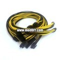 Corsair AX1200i Premium Single Sleeved Power Supply Modular Cables Set (Black/Yellow)