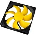 PC Cooler 120mm x 25mm Yellow Fan (1200RPM 16dBA 44CFM)