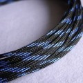 Deluxe High Density Weave Black/Blue Cable Sleeve (4mm)