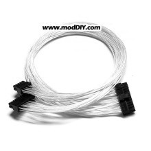 Power Supply Modular Cable 18-Pin + 10-Pin to 20-Pin + 4-Pin (24-Pin) Silver Wire Cable