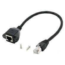 (NEW) 1000M CAT6 RJ45 Ethernet Extension Cable with Panel Mount