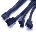 PWM 3-Way Splitter - Smart Fan Cable (30cm) - Black
