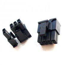 6+2-Pin PCI-Express Power Female Connector w/ Pins - Black