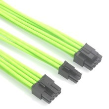 Premium Nvidia Green Single Sleeving Extension Cable (CPU/EPS)