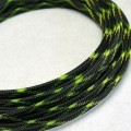 Deluxe High Density Weave Black/UV-Yellow Cable Sleeve (6mm)