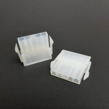 5-Pin Power Supply Male Molex Connector with Pins (Transparent White)