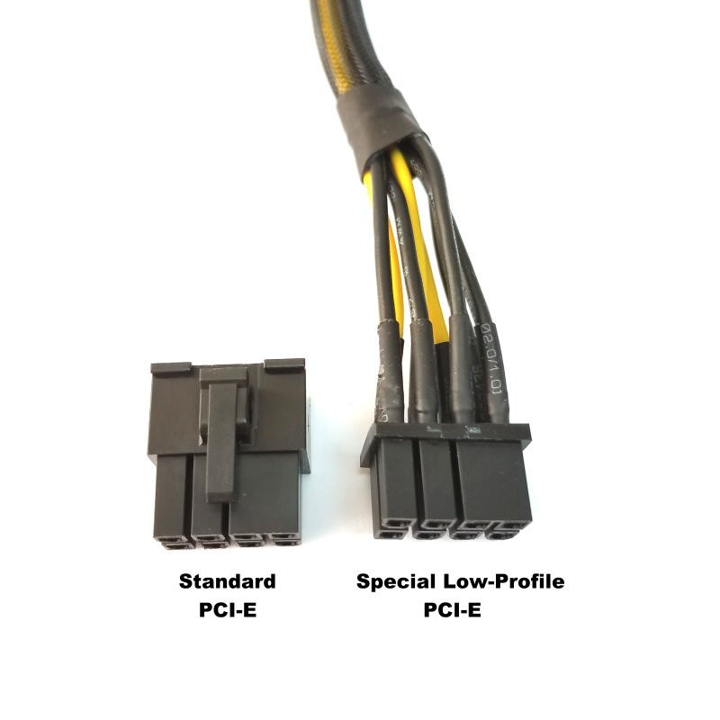 Low Profile Power Cable : Special mini low profile pin pci e extension