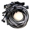 Seasonic Single Sleeved Power Supply Modular Cables Mega Set - Black / Silver Grey