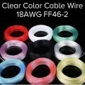 Premium 18AWG FF46-2 Clear Color Computer Cable Copper Wire 9 Colors