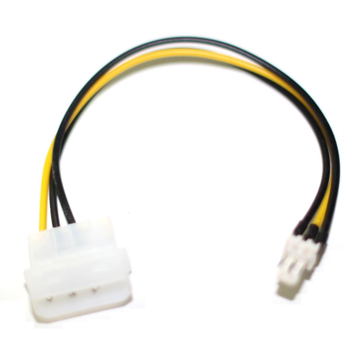 molex 3fan__60984_zoom 4 pin molex connector (male) to standard 3 pin fan connector (male