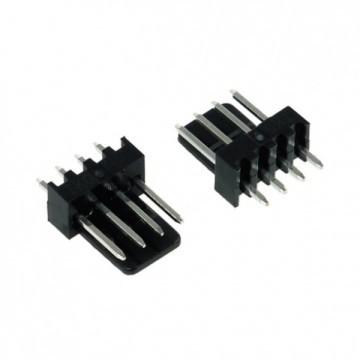 4-Pin Male Fan Connector - Black