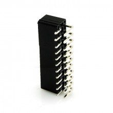 22-Pin ATX Power Male Header Connector - 90% Angled - Black