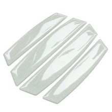 Car Door Edge Guards Anti-collision Scratch Protection Strip Bumpers (White)