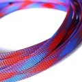 Deluxe High Density Weave Blue/Red Cable Sleeve (12mm)