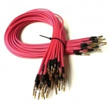(Black Friday) Premium Pre-made 18AWG Sleeved Electrical Wire (Pink 36pcs)