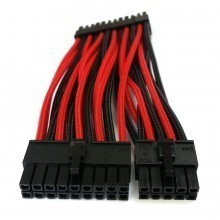 Corsair SF Series Premium Single Sleeved Main Power Modular Cable (Black/Red)