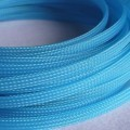 Deluxe High Density Weave UV Light Blue Cable Sleeve (4mm)