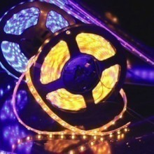 Custom Length Sleeved LED Light Strip - Yellow