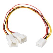 Standard 3 Pin to 2 x 3 Pin Computer Case Fan Y Splitter Cable 20cm