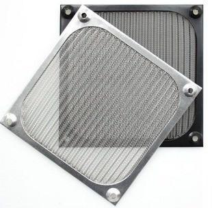 Aluminium 14cm Fan Filter (Black)