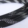 Deluxe High Density Weave Black/Silver Cable Sleeve (8mm)