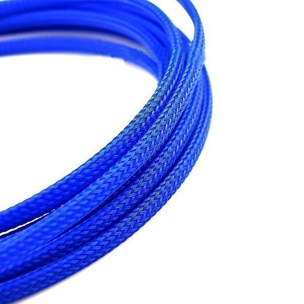 Deluxe High Density Weave Blue Cable Sleeve (3mm) on
