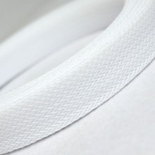 Deluxe High Density Weave White Cable Sleeve (16mm)